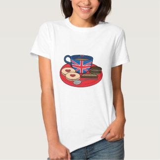 Tempo do chá em Grâ Bretanha T-shirt