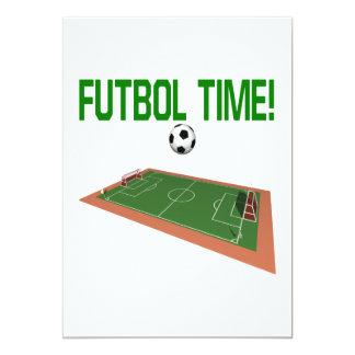 Tempo do futebol convite 12.7 x 17.78cm