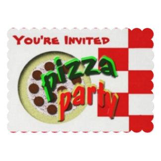 Tempo do partido da pizza convite 12.7 x 17.78cm