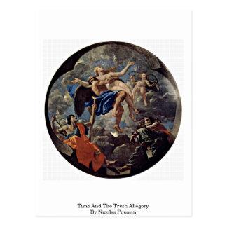 Tempo e a alegoria da verdade por Nicolas Poussin Cartão Postal