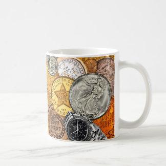 Tempo e dinheiro caneca de café