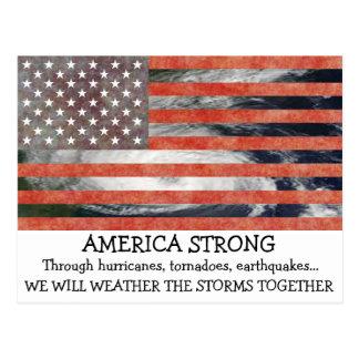 Tempo forte de América da tempestade o cartão