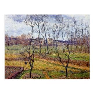 Tempo nublado de Gustave Loiseau- em Nesles Vallee Cartões Postais