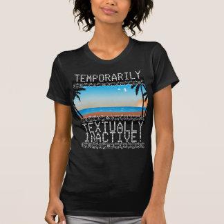 Temporariamente Textually t-shirt inativo