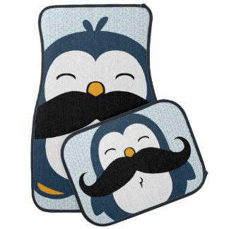 Tendência do pinguim do bigode tapete para carro
