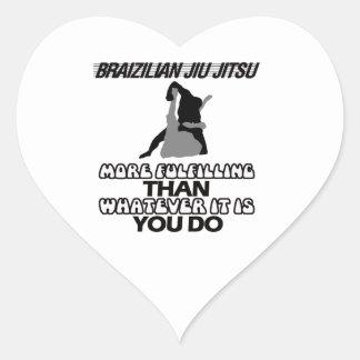 Tendendo o DESIGN de Jiu Jitsu Adesivo Coração