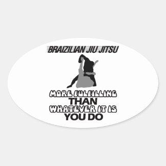Tendendo o DESIGN de Jiu Jitsu Adesivo Oval