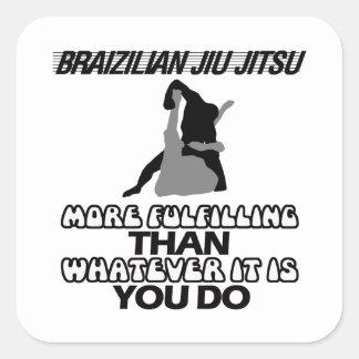 Tendendo o DESIGN de Jiu Jitsu Adesivo Quadrado