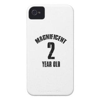 TENDENDO o DESIGN do ANIVERSÁRIO da criança de 2 Capa Para iPhone 4 Case-Mate
