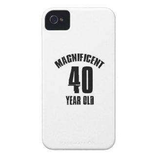 TENDENDO o DESIGN do ANIVERSÁRIO das pessoas de 40 Capa Para iPhone 4 Case-Mate