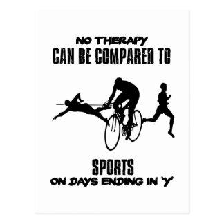 Tendendo o design do esporte cartão postal