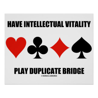 Tenha a ponte intelectual da duplicata do jogo da poster