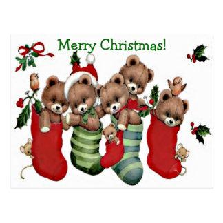 Tenha o Feliz Natal de um Beary! - Cartão do