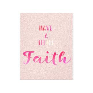 Tenha pouco impressão da arte das canvas da fé