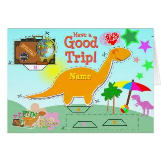 Tenha um bom cartão do dinossauro da viagem