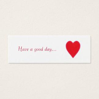Tenha um bom dia. , o presente vermelho do cartão de visitas mini