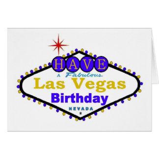 Tenha um cartão de aniversário fabuloso de Las