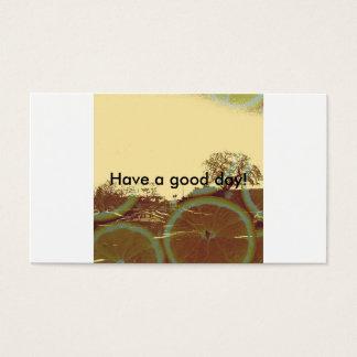Tenha um cartão de visita do bom dia