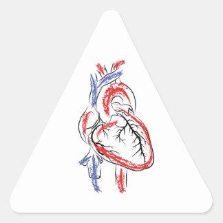 Tenha um coração adesivo triangular