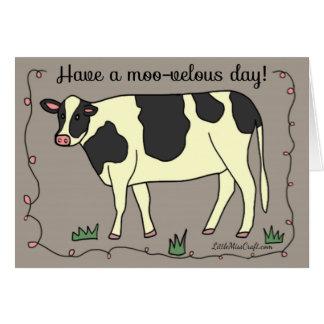 """""""Tenha um dia MOO-velous!"""" Acobarde o cartão"""