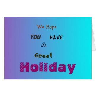 Tenha um grande cartão de Holiday>Farewell