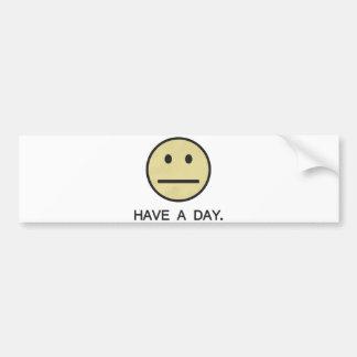 Tenha um smiley face do dia adesivo para carro