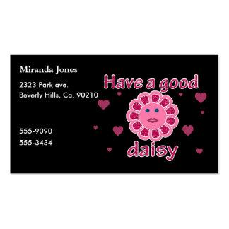 Tenha uma boa margarida cartões de visitas