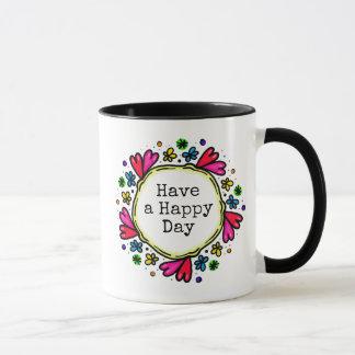 Tenha uma caneca de café de pensamento positiva do