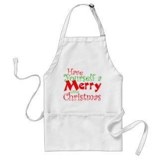 Tenha você mesmo avental do feriado do Feliz Natal