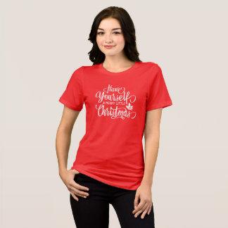 Tenha você mesmo um alegre pouca camisa do Natal |