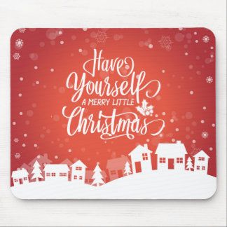 Tenha você mesmo um alegre pouco Natal | Mousepad