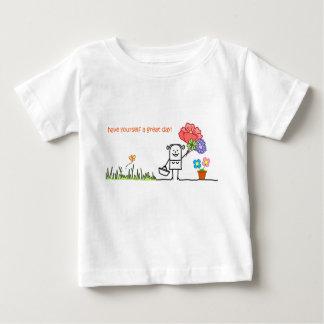 Tenha você mesmo um grandes t-shirt do bebê do camiseta para bebê