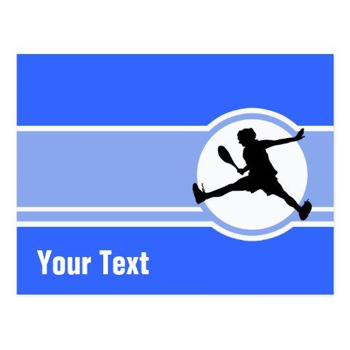 Tênis; Azul Cartão Postal