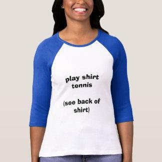 Tênis da camisa do jogo