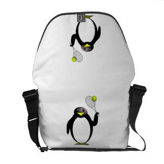 Tênis do pinguim bolsas mensageiro