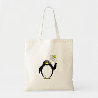 Tênis do pinguim sacola tote budget