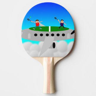 Tênis em bastões de um pong do sibilo do plano raquete de ping pong