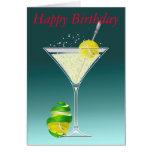 Tênis Martini, feliz aniversario Cartão