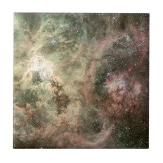 Tentáculos da nebulosa do Tarantula Azulejo Quadrado Pequeno