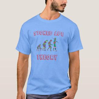 Teoria apedrejada do macaco camiseta
