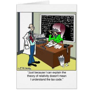 Teoria de relatividade & dos impostos cartão comemorativo