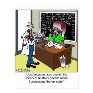 Teoria de relatividade & dos impostos cartão postal