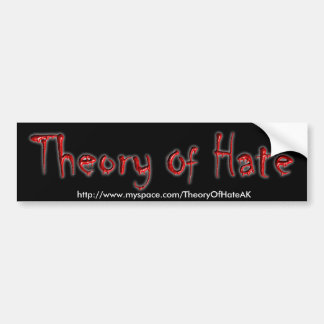 Teoria do autocolante no vidro traseiro do ódio adesivo para carro