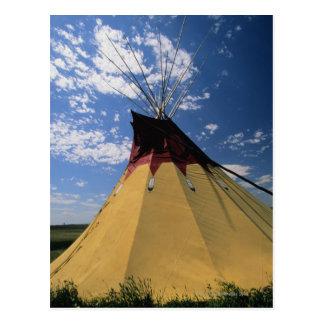 Tepee perto do campo de batalha do Little Bighorn Cartão Postal