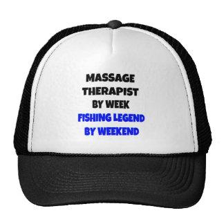 Terapeuta da massagem da legenda da pesca boné