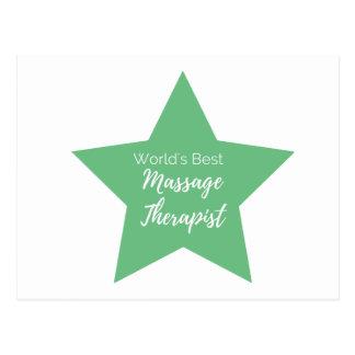 Terapeuta da massagem do mundo o melhor cartão postal
