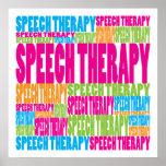 Terapia da fala colorida impressão