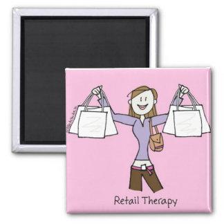 Terapia de varejo ímã quadrado