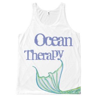 Terapia do oceano na maior parte pelo presente do regata com estampa completa
