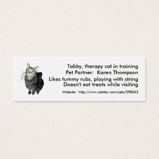Terapia/modelo Animal-Ajudados cartão das